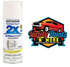 RustOleum 2X Satin Blossom White Ultracover Spray Paint