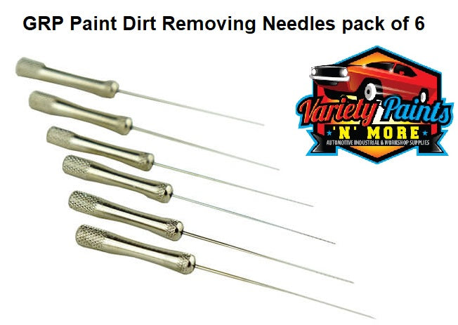 GRP Paint Dirt Removing Needles pack of 6