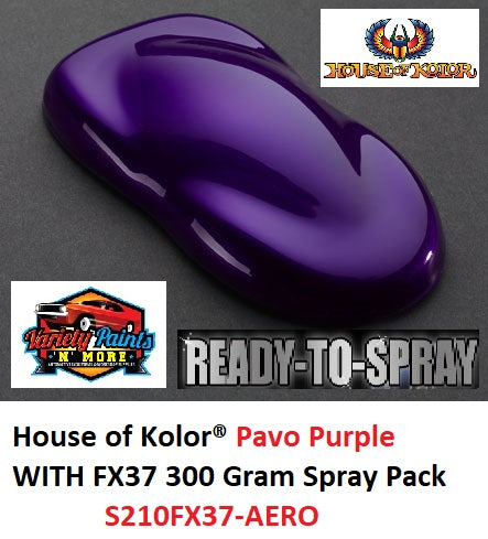 House of Kolor Pavo Purple With FX37 Effect  Shimrin2 Spray Pack 300 Gram