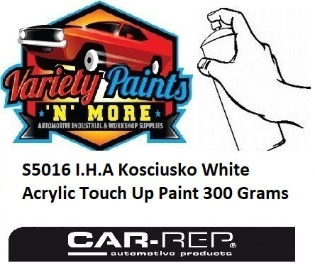 S5016 I.H.A Kosciusko White Acrylic Touch Up Paint 300 Grams
