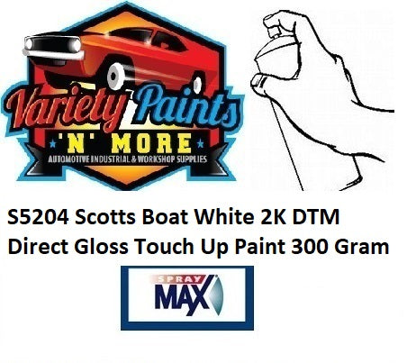 S5204 Scotts Boat White 2K DTM Direct Gloss Touch Up Paint 300 Gram