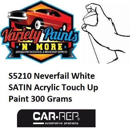 S5210 Neverfail White SATIN Acrylic Touch Up Paint 300 Grams