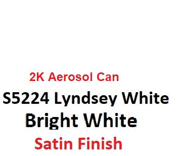 Variety Paints Lindsey White S5224 SATIN 2K Aerosol Paint 300 Grams
