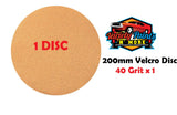 Smirdex 200mm 40 Grit Velcro Disc Single No Hole