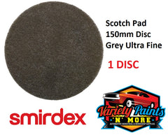 Scotch Brite 150mm Round Disc Grey Smirdex 1 DISC