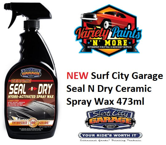 Surf City Garage Seal N Dry Ceramic Spray Wax 473ml