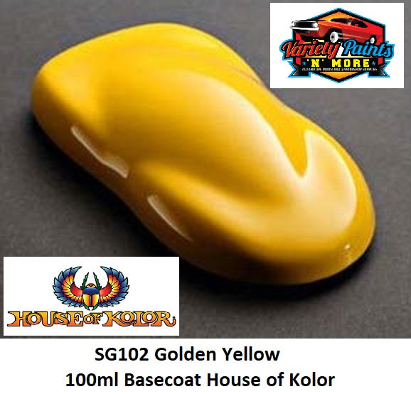 SG102 Golden Yellow 100ml Basecoat House of Kolor