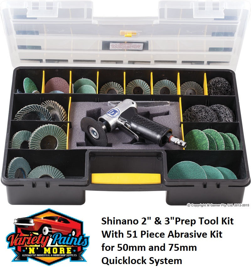 "Shinano 2"" & 3""Prep Tool Kit With 52 Piece Abrasive Kit"