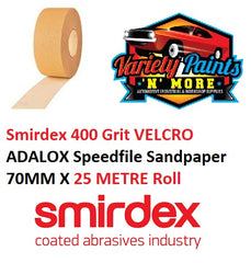 400 Grit VELCRO NO-FIL Speedfile Sandpaper Roll 70mm x 25 Metre Roll