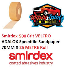 500 Grit VELCRO NO-FIL Speedfile Sandpaper Roll 70mm x 25 Metre Roll