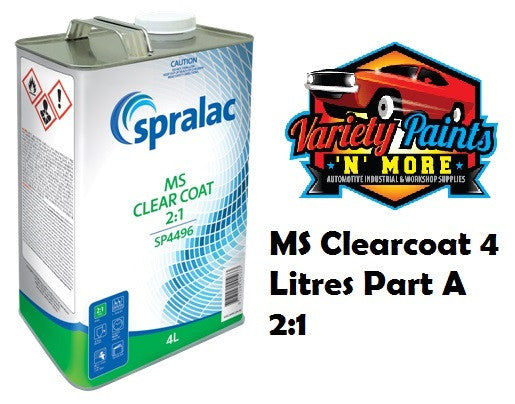 Spralac Clear Coat MS 2:1 4 Litre SP4496