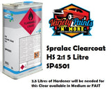 Spralac Clearcoat HS 2:1 5 Litre SP4501