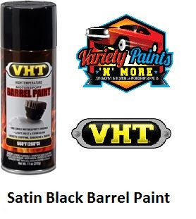 VHT Barrel Spray Paint Satin Black SP906 Variety Paints N More