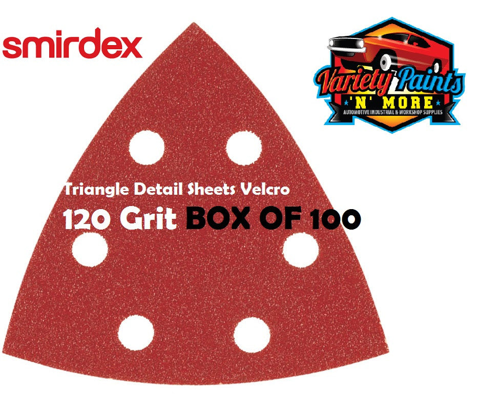 Smirdex Triangle 120 Grit BOX OF 100 Detail Sanding Sheets 95 x 95 x 95mm