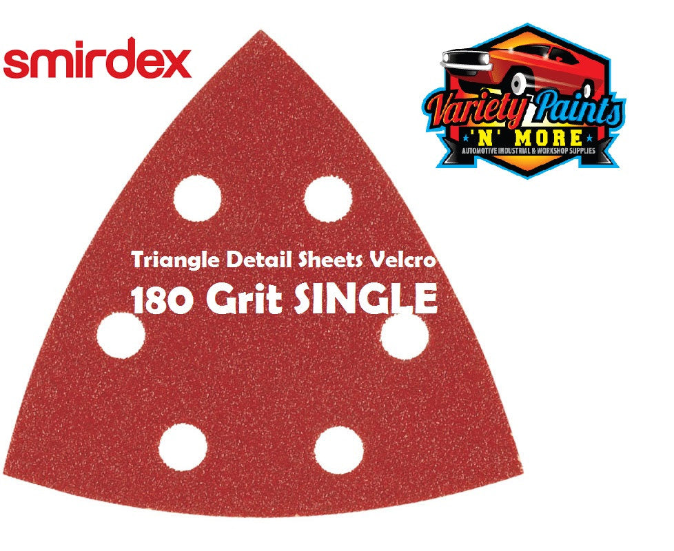 Smirdex Triangle 180 Grit SINGLE Detail Sanding Sheets 95 x 95 x 95mm
