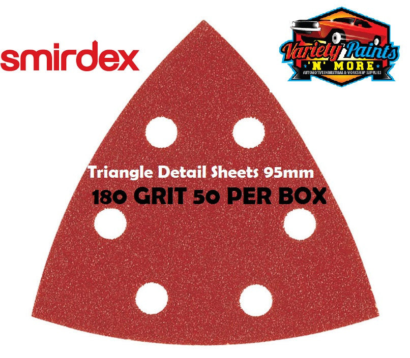 Smirdex Triangle 180 Grit BOX OF 50 Detail Sanding Sheets 95 x 95 x 95mm