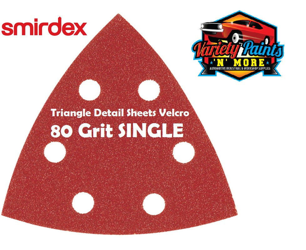 Smirdex Triangle 80 Grit SINGLE Detail Sanding Sheets 95 x 95 x 95mm