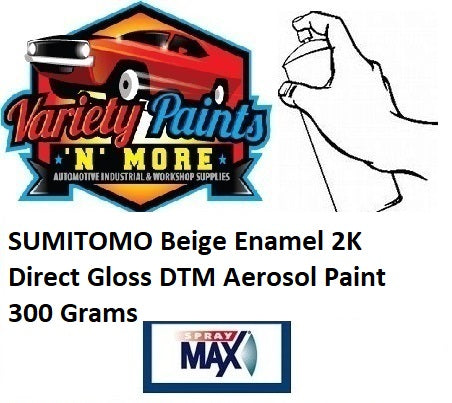 SUMITOMO Beige Enamel 2K Direct Gloss DTM Aerosol Paint 300 Grams
