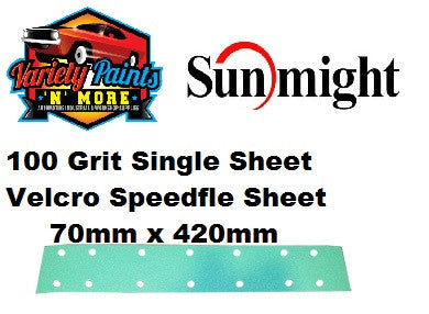 Sunmight 100 Grit SINGLE SHEET Speedfile Velcro Sandpaper
