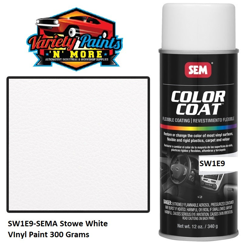 Stowe White SEM Colourcoat Vinyl Aerosol 300 Grams