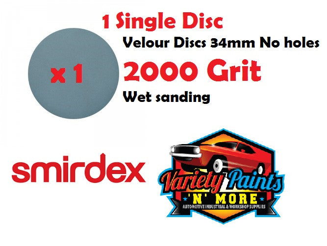 Smirdex 2000 Grit De-Nib 34mm Wet & Dry Disc 2000 Grit - Single