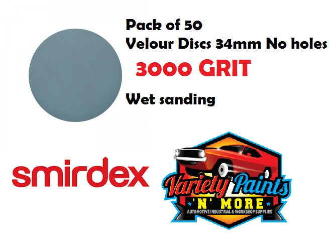 Smirdex 3000 Grit De-Nib 34mm Wet & Dry Disc - PACK OF 50