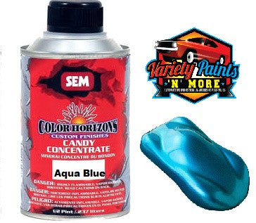 SEM Aqua Blue Candy Concentrate 1/2 Pint (284ml) Variety Paints
