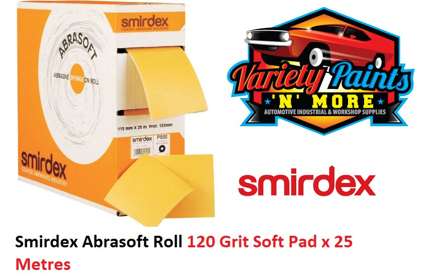 Smirdex Abrasoft Roll 120 Grit Soft Pad x 25 Metres