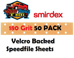 Smirdex 180 Grit Velcro Speedfile Sheets PACK OF 50 70mm x 42mm 14 HOLES