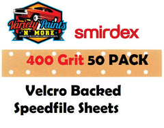 Smirdex 400 Grit Velcro Speedfile Sheets PACK OF 50 70mm x 42mm 14 HOLES