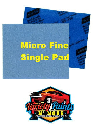 Norton Soft PAD Touch Sanding Sponge Micro Fine 1000-1200 Single