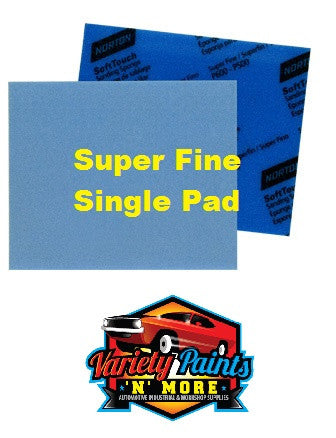 Norton Soft PAD Touch Sanding Sponge Super Fine 600-500 Single