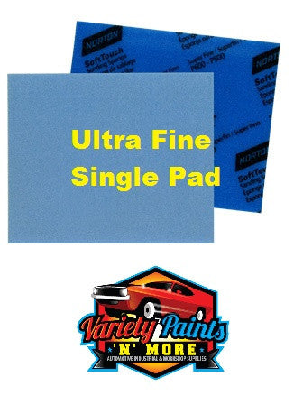 Norton Soft PAD Touch Sanding Sponge Ultra Fine 800-1000 Single