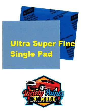 Norton Soft PAD Touch Sanding Sponge Ultra Super Fine 1200-1500 Single