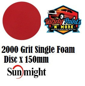 Sunfoam Foam Velcro Disc SINGLE 2000g x 150mm 6""