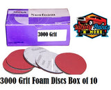 Sunfoam Foam Velcro Discs 150mm x 3000 Grit Pack of 10