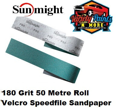 Sunmight Speedfile Velcro Film Sandpaper 180 Grit x 50 Metre Roll