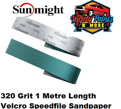 Sunmight 320 Grit Speedfile Velcro Sandpaper 1 METRE Length