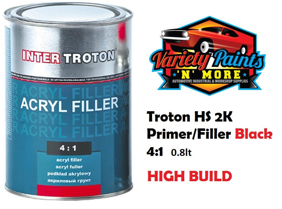 Troton Black HS 2K High Build Primer/Filler 4:1 0.8lt