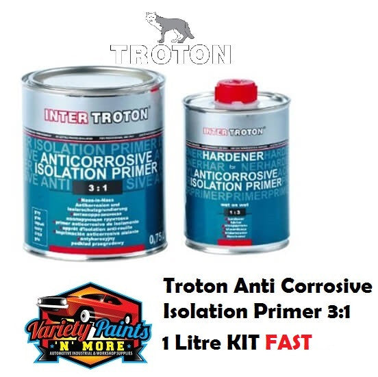 Troton Anti Corrosive Isolation Primer 3:1 Fast 1 Litre KIT