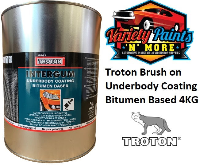 Troton Brush on Underbody Coating Bitumen Based 4KG