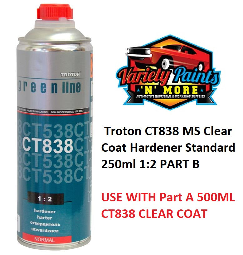 Troton CT838 MS Clear Coat Hardener Standard 500ml 1:2 PART B