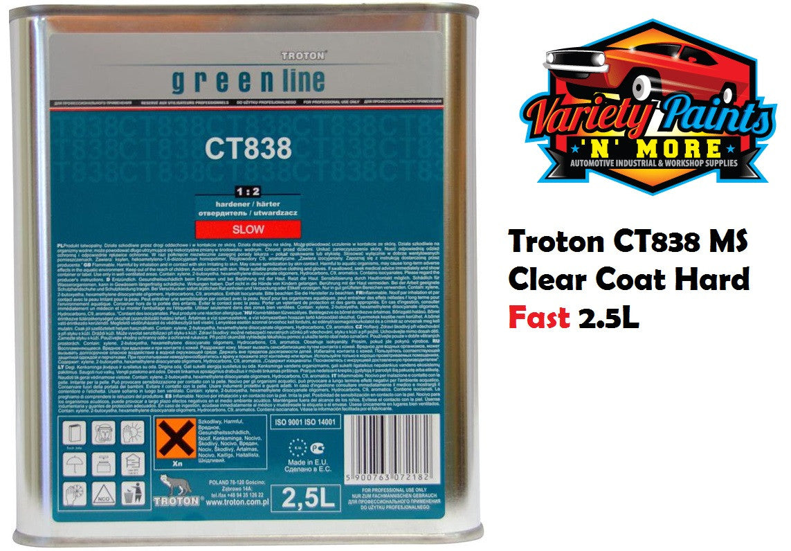 Troton CT838 MS Clear Coat Hard Fast 2.5L