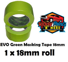 18mm SINGLE BodyworX Evo Green Masking Tape