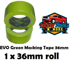 36mm SINGLE BodyworX Evo Green Masking Tape