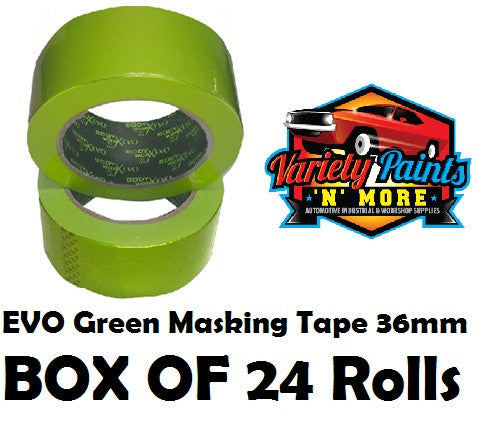36mm BodyworX Evo Green Masking Tape 24 ROLLS