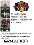 TK Electric Green Metallic Hyundai Basecoat Aerosol Paint 300 Grams