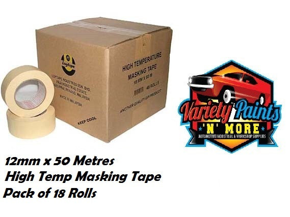 Loy Tape 12mm Pack OF 18 Rolls High Temperature Masking Tape