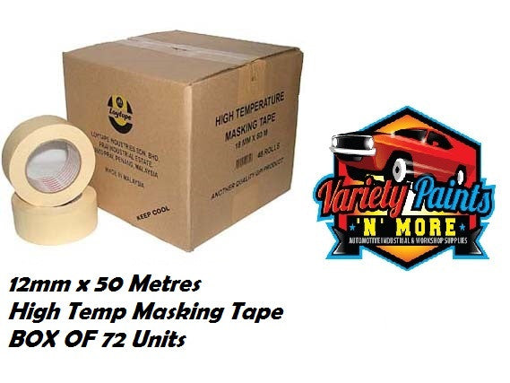 Loy Tape 12mm Box OF 72 High Temperature Masking Tape
