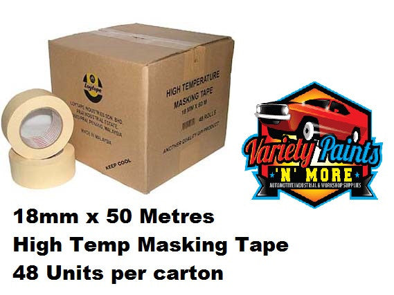 Loy Tape 18mm Box 48 High Temperature Masking Tape